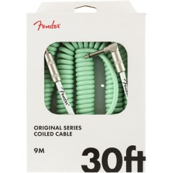 Fender Original Series Coil Cable 9m acodado Surf Green