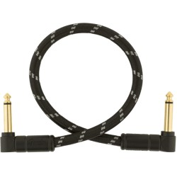 Fender Deluxe Series Cable Instrumento Latiguillo 30cm acodado Black Tweed