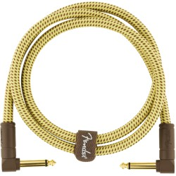 Fender Deluxe Series Cable Instrumento Latiguillo 90cm acodado Tweed