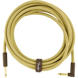 Fender Deluxe Series Cable Instrumento 4,5m acodado Tweed