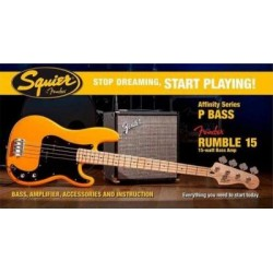 FENDER SQUIER Pack Affinity Precision Bass + Rumble 15 Butterscotch Blonde