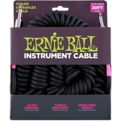 ERNIE BALL Cable UltraFlex Spiral 9 Mts Black