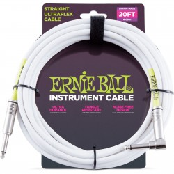 ERNIE BALL Cable UltraFlex 6Mts White